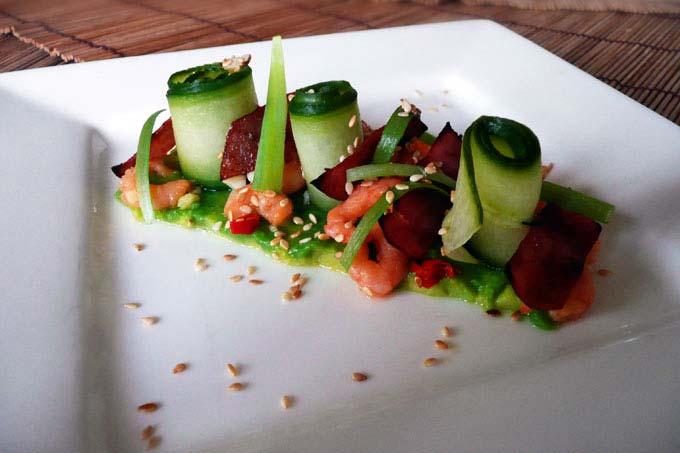 Engelse Keuken Voorgerecht : Komkommerrolletjes met gemarineerde garnalen CurlsCulinair